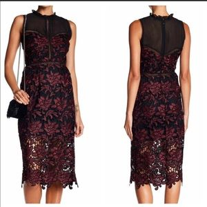 Romeo + Juliet Couture mock neck lace dress